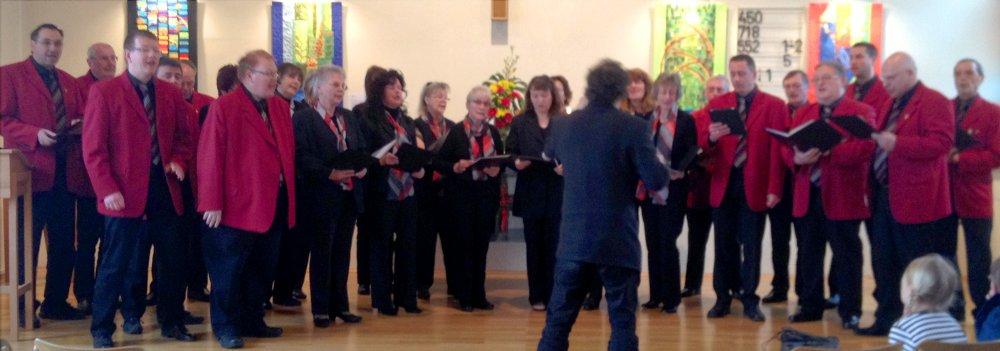 Der gemischte Chor beim Gedenkgottesdienst