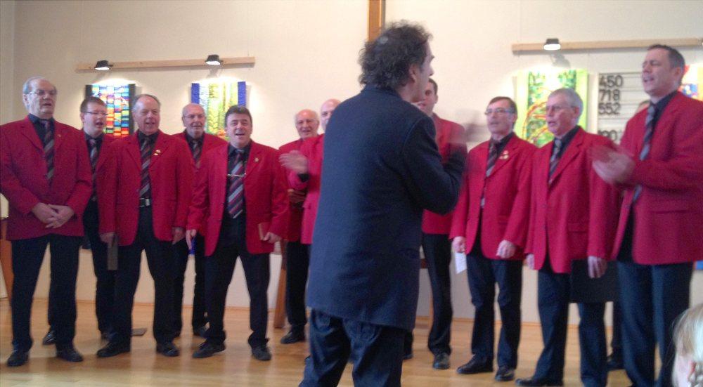 Der Männerchor beim Gedenkgottesdienst