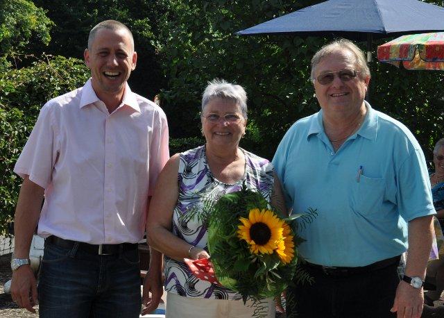 Helma Thomas wird 70, Matthias und Herbert gratilieren