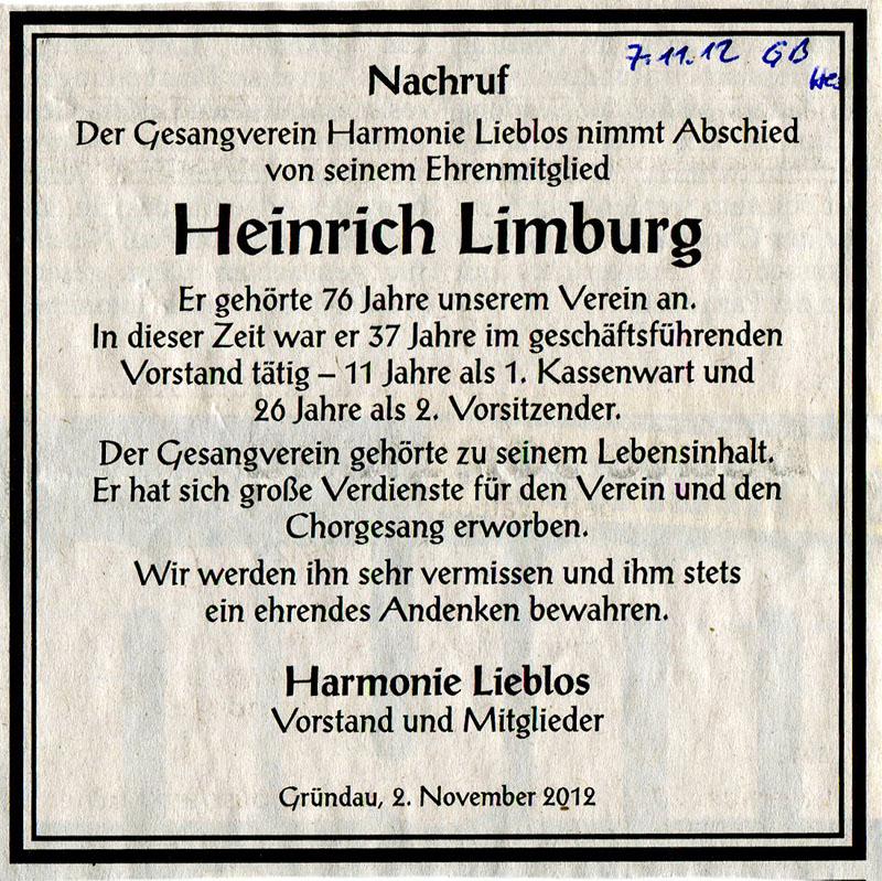 2012-11-02 Nachruf Hch.Limburg