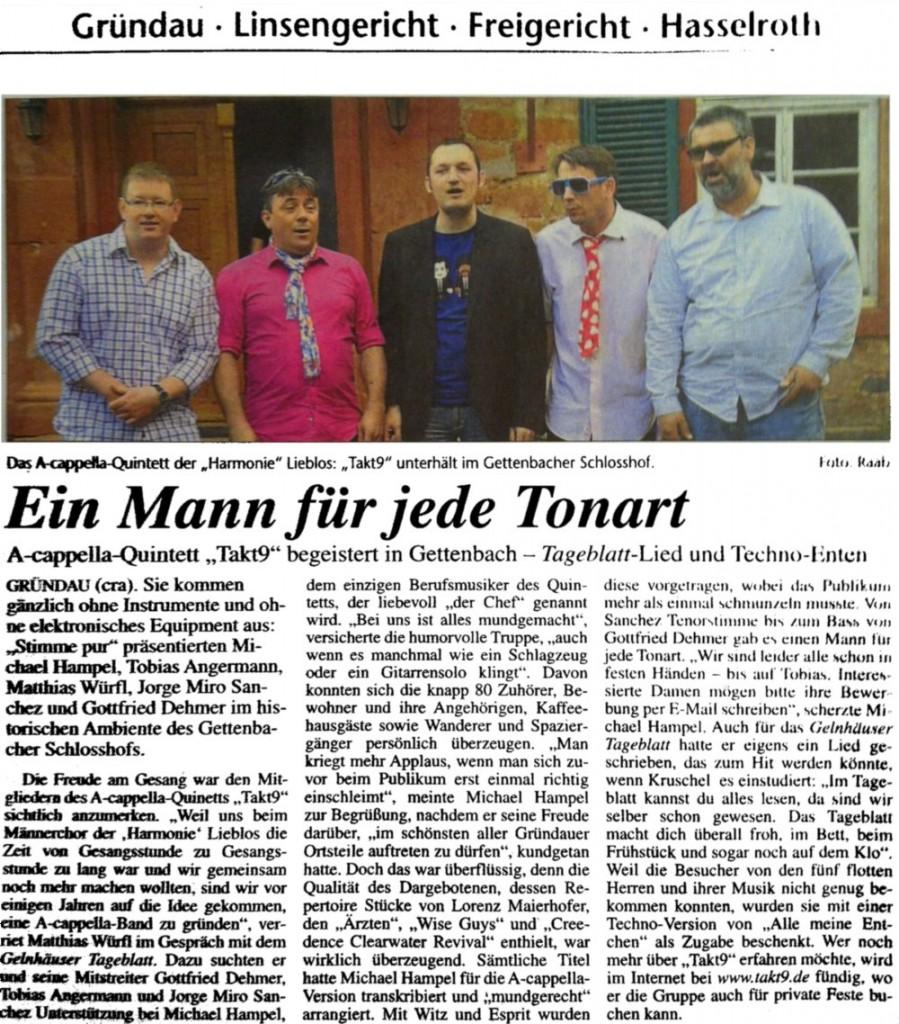 2012-05-05 Takt9 Pressebericht GT