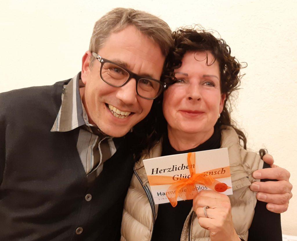 Matthias gratuliert Barbara zum 60. Geburtstag